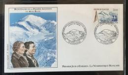 FRANCE - 1986 - FDC  N°1442 - N° Y&T 2422 - Petite Enveloppe Oblitérée 08.08.86 à Chamonix (74) - FDC