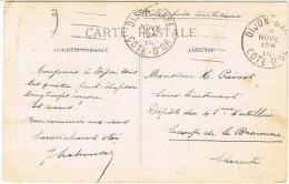 O.MEC GARCIA DIJON GARE SUR CPA EN FRANCHISE MILITAIRE - Marcophilie (Lettres)