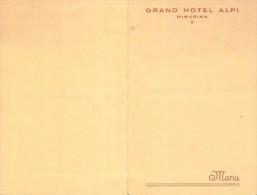 """04075 """"(BELLUNO) MISURINA - GRAND HOTEL ALPI - MENU - 7 SETTEMBRE 1953"""" ORIGINALE - Menu"""