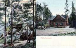 HUBERTUSBAUDE (Böhmen) - Katzenstein, Gel.191?, Stempel Bad Liebwerder - Böhmen Und Mähren