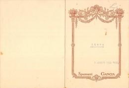 "04078 ""SPUMANTI GANCIA - MENU DECORATO - 9 AGOSTO 1930 VIII"" ORIGINALE - Menu"