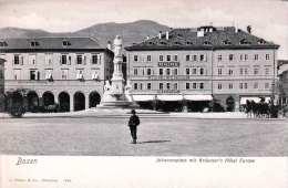 BOZEN (Südtirol) - Johannesplatz Mit Kräutner's Hotel Europe, Karte Um 1900 - Bolzano (Bozen)