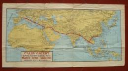 Carte Itinéraire Air Orient - Werbung