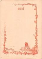 "04082 ""ET POUR BEBE: PHOSPHATINE FALIERES - ESPAGNE - MENU DECORATO CON POESIA"" ORIGINALE - Menu"