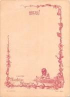 "04083 ""ET POUR BEBE: PHOSPHATINE FALIERES - MAURITANIE - MENU DECORATO CON POESIA"" ORIGINALE - Menu"