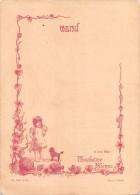 """04085 """"ET POUR BEBE: PHOSPHATINE FALIERES - ILES DE CURACAO - MENU DECORATO CON POESIA"""" ORIGINALE - Menu"""