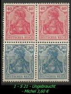 Deutsches Reich - Zusammendruck - Mi. Nr. S 21 - Ungebraucht Im Paar. - Zusammendrucke