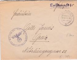 Feldpost WW2: Gebirgs Jäger Btl. 13 P/m Leoben 7.6.1941 - Letter Inside   (G84-6) - Militares