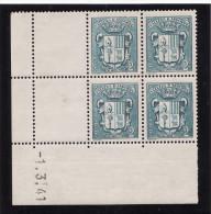 Andorre 1941 - N° 48 - Coin Daté Du 1er Mars 1941 - Neuf** - Ongebruikt