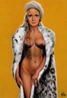 """CARTE POSTALE NU D'ASLAN """"CHRISTINE - Femme à La Fourrure"""" DE 1969  - (voir Scan Recto-verso). - Nus Adultes (< 1960)"""