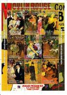 Madagascar MNH 1999 Mini Sheet Of 9 Moulin Rouge Paintings By Toulouse-Lautrec Philex France 99 - Expositions Philatéliques