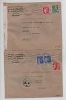 France 9 Lettres De Bayonne Guerre 39-45 Différents Affranchissements Censure De Cologne V.Belgique PR2947 - Marcophilie (Lettres)