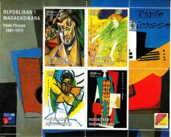 Madagascar MNH 1999 Mini Sheet Of 4 Paintings By Picasso Philex France 99; Bruphila 99 - Exposiciones Filatélicas