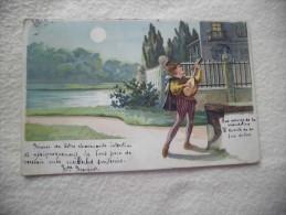 BELLE ILLUSTRATION..TROUBADOUR ??..BEAU CACHET SOUVIGNE..INDRE ET LOIRE 6 JUIN 1904 - Illustrateurs & Photographes
