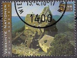 2002 UNO WIEN   Mi. 353 Used  Ruine Aggstein - Wien - Internationales Zentrum