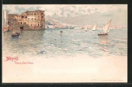 Artista-Cartolina Napoli, Palazzo Donn`Anna - Napoli