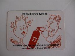 Firefighters Pompiers Bombeiros Material Para Incêndio Fernando Melo Portugal Portuguese Pocket Calendar 1992 - Petit Format : 1991-00