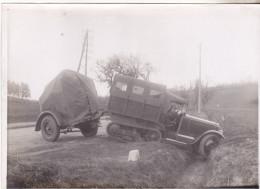 Militaria- Transport Avec Chenillette D´un  Phare Anti AérienBreguet( Entre 2 Guerres). Tb état. - Optique