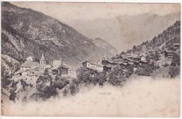 VISSOIE (Suisse-Valais) Vue Sur Le Village Eglise Chalet Montagne - 2 SCANS - - VS Valais
