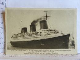 PAQUEBOT NORMANDIE - Dampfer