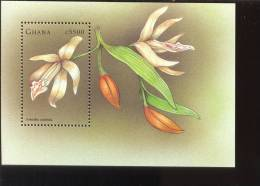 GHANA  2043 ;MINT NEVER HINGED SOUVENIR SHEET OF FLOWERS - ORCHIDS - Plants