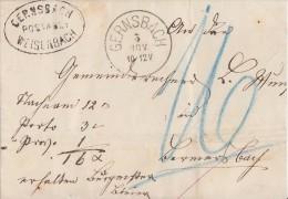 Baden Brief Gernsbach 5.11. Mit Postablagest. Gernsbach-Weisenbach - Baden