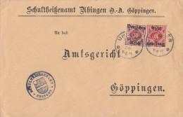 DR Brief Dienst Mif Minr.D53, D56 Uhingen 4.10.20 - Dienstpost