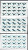 1997 QATAR Arab Horses Complete 4 Sheets 20 Set 4 Values MNH - Qatar