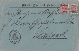 DR Brief Dienst Mif Minr.D58,D63 Calw 23.2.21 - Dienstpost
