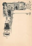 55Nja   Menu Cartonné Neuf Champagne Roederer Art Déco Nouveau - Menus