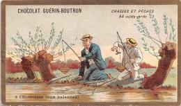 "04096 ""CHOCOLAT GUERIN-BOUTRON - PARIGI - CACCIA E PESCA"" PESCATORI,  FIGURINA ORIGINALE - Chocolate"