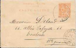 Carte-Lettre 1902 - Entiers Postaux
