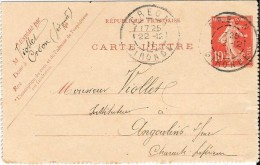 Carte-Lettre 1911 - Kartenbriefe