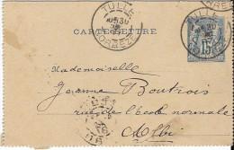 Carte-Lettre 1887 - Kartenbriefe