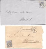 España. Dos Cartas Circuladas Con Sellos De 50 Milésimas. Edifil 107(2) - 1868-70 Gobierno Provisional