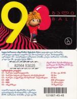 GEORGIA - Bali Prepaid Card 9 GEL, Used - Georgia