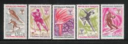 FRANCIA - 1968 - 5 Valori Nuovi Stl - GIOCHI OLIMPICI INVERNALI DI GRENOBLE - In Ottime Condizioni. - Inverno1968: Grenoble