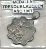 TRENQUE LAUQUEN 25 DE MAYO DE 1810-1907 PROVINCIA DE BUENOS AIRES RARE MEDAILLE - Firma's