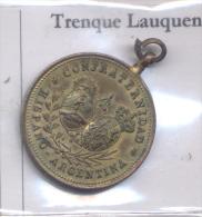 HOSPITAL DE CARIDAD TRENQUE LAUQUEN - 25 DE MAYO 1900 - CONFRATERNIDAD HISPANO ARGENTINA BRONCE BRONZE - Firma's