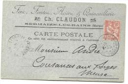 Marne - Sermaize Les Bains Pour Cousances Aux Forges (Meuse). CPA.Quincaillerie - 1877-1920: Semi Modern Period