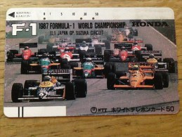 Balkenkarte / Barcode Card From Japan / Nippon / Japonese  - Formula One F1 - 110-011 - Giappone