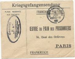 WW1 - Oeuvre Du Pain Des Prisonniers De PARIS. 1915 HAMMELBURG - 1877-1920: Semi Modern Period