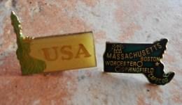 Pin's   :   USA - MASSACHUSETTS - Città