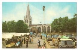 S4577 -The Parish Church And Market Stalls - Wellingborough - Northamptonshire