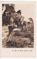 Carte Postale Militaire Allemand Deuxième Guerre 39/45 REICH Deutschland - Couple D'Amoureux Propagande Krieg - Guerre 1939-45