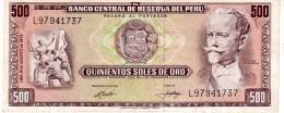 Peru P.104  500 Soles 15.08.1974 Xf+ - Pérou