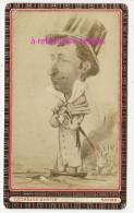 A Voir-CDV Caricature Signée L. Depy-personnalité Liée à L´histoire De REIMS Voir Détail-par Favereaux-Martin - Old (before 1900)