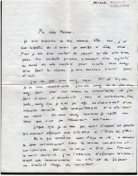 VP3654 - Lettre De Mr Henri  De VIBRAYE à ANCELLE - Récit - Manuscripts