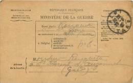 Bulletin De Sante Du Soldat Rouquette En Traitement A Albi - Eclat D'obus - A St Florent S/ Auzonnet  Franch - Guerre 1914-18