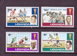 OUGANDA-UGANDA  1978 FOOTBALL SURCHAGE:WORLD CUP 1978   YVERT N°156/59  NEUF MNH** - World Cup